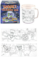 Kids Halloween Colour Your Own Spooky Mug Cup Plastic Beaker Art Craft Prize Toy