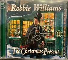 ROBBIE WILLIAMS CD x 2 The Christmas Present hand SIGNED ! Double album