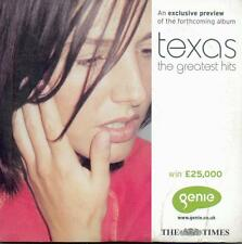 TEXAS: GREATEST HITS PREVIEW CD (2000) 4 TRACKS + 2 VIDS/ HALO, SO CALLED FRIEND