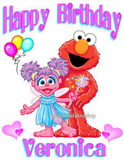 New Personalized Abby Cadabby and Elmo Birthday T Shirt