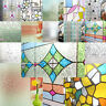 Static Frosted Window Film Etched Glass Decorative PVC Privacy Cling A4 SAMPLE