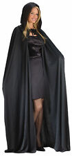Cape 68 Inches Long Hooded Black Adult Gothic Vampire Costume Funworld
