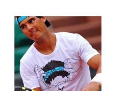 Nike Men's Premier Rafa Headband T-Shirt XL White Blue Gym Casual Training New
