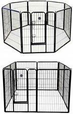 Pen Dog Kennel 32 Inch Tall Exercise Large Playpen 8 Panel Puppy Indoor Outdoor