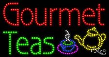 "NEW ""GOURMET TEAS"" LOGO 32x17 SOLID/ANIMATED LED SIGN w/CUSTOM OPTIONS 21302"