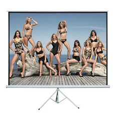 """120"""" 4:3 Projection Projector Screen Home HD Movie Manual Pull Up Stand Tripod"""
