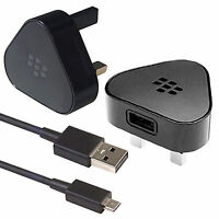 GENUINE ORIGINAL BLACKBERRY MAINS CHARGER WALL ADAPTER + MICRO USB CABLE UK