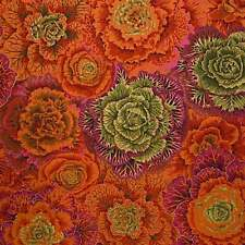 "FREE SPIRIT ""KAFFE FASSETT COLLECTIVE"" BRASSICA PWPJ051 Rust by the 1/2 yard"