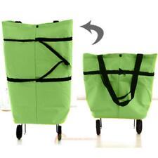 Folding Foldable Shopping Trolley Bag Cart Grocery Handbag Tote Rolling Wheel