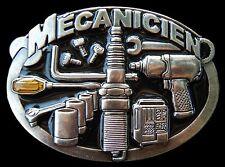 MECANICIEN MECHANIC CAR TRUCKS GARAGE TOOLS BELT BUCKLE BOUCLE DE CEINTURES