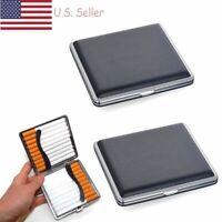 Leather Cigar Cigarette Tobacco Case Holder Pocket Box Storage For 20 Cigars USA