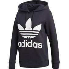 adidas Trefoil Hoodie Women Damen KAPUZEN Sweatshirt Pullover Black CE2408 38