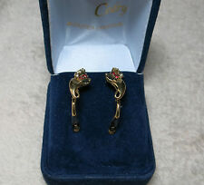Boucles d'oreilles or 18K /  earrings  18 carat  yellow gold.