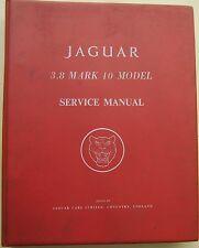 Jaguar 3.8 mark 10 original service manual (workshop manual) pub. no. E125/2