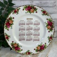 Royal Albert Old Country Roses 2000 Calendar Collector Dinner Plate Signed