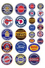 1:25 G scale model vintage car automobile service center signs