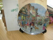 DAVENPORT CHINA PLATE ' THE MUFFIN MAN ' CRIES OF LONDON BOXED CERTIFICATE 40