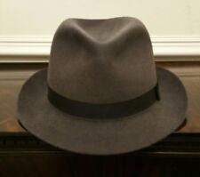 Grey Vintage Trilby/Fedora Hat, Christys London Fur-Felt UK 7 1/8, EU 58cm