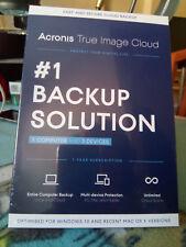 Acronis True Image Cloud illimitato per PC e Mac OS X versione DVD multilingue