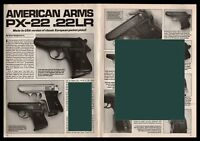 1992 AMERICAN ARMS PX-22 .22LR Pistol 4-page Evaluation Article