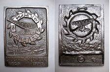 fer de fonte Plaque LAUCHHAMMER 250 années Bestehen 1975 industrie minière
