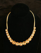 NWT Design Group FOSSIL Huge Champagne Glass Rhinestone Necklace $68