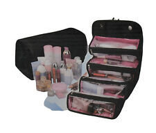 Roll N Go Cosmetics Toiletries Makeup Organiser Bag Pockets Travel Compartment