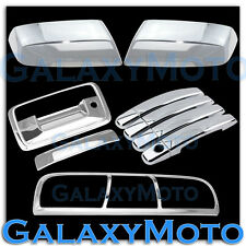 14-15 Chevy Silverado 1500 Chrome Mirror+4 Door Handle+Tailgate+3rd Brake Cover