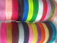 Cinta de organza, 25 Rollos Nuevos, 25 diff. Colores 625 yardas de 12 mm, 25 yrds Cada Rollo