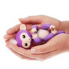 6 funciones Bebé Mono Mascota Interactiva dedo Niños Juguete electrónico brótolas púrpura