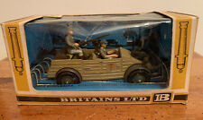 "Britains Ltd 1:32 German WWII ""AFRIKA KORPS"" KUBELWAGEN + SOLDIERS #9785"