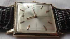 Jaeger LeCoultre mens wristwatch 18K solid gold case load manual 27 mm. aside