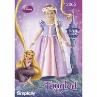 Simplicity #2065 Sewing pattern Disney's Tangled Rapunzel Child Costume 3-8