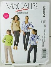 McCalls M6329 Sewing Pattern Womens Plus Size Lined Jacket Blazer Career 18W 24W