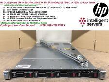 HP DL360p Gen8 LFF 2x E5-2680 256GB RAM 4x 3TB SAS P420i/1GB FBWC 1U Rack Server