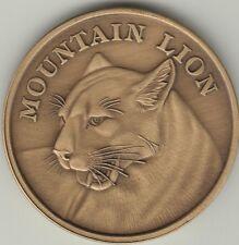 Mountain Lion coin antique bronze medallion