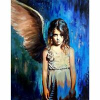 ZWPT940 hand painted Winged Angel little Girl oil painting  art on Canvas