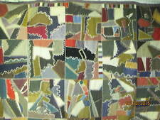 Atq late 1800's Crazy Quilt hand embroidered Velvets Wools Brocades Garbadines