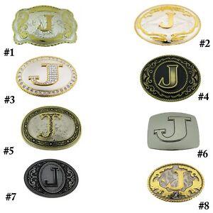 Initial J Letter J Belt Buckles Alphabet J Monogram J Men Cowboy Western Cowgirl