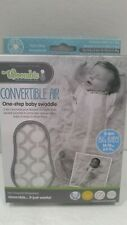 Woombie 14-19 lbs 3-6 month Swaddle CONVERTIBLE AIR Circles Gray Big Baby NEW