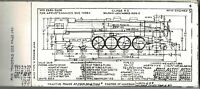 Northern Pacific Steam Locomotives Diagrams 1955 Railroad Train FREE SHIPPING