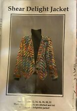 Shear Delight Jacket Sewing Pattern by CNT Pattern Compa - Sizes 8-22 - Unused.