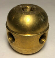 New Large Turned Brass 2 Pc. Cluster Body, 4 Light, 1/8F Tap, Unfinished #CB452A