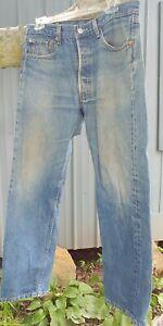 Vintage Levis 501 Blue Jeans Mens Size 33 x 30 Button Fly