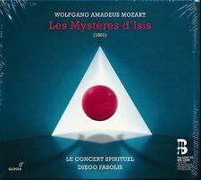 Mozart Les Mysteres d'Isis CD NEW Diego Fasolis Flemish Radio Choir