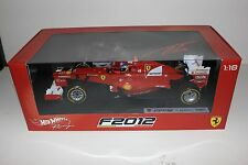 Hot Wheels X5520 1/18 Ferrari F1 Formula 1 F2012 Fernando Alonso