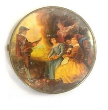 Ladies Double Mirrored Compact Two Sided Images Renaissance Scene