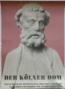 Poster Plakat - Der Kölner Dom - Historisches Museum Zeughaus - Mannheim 1956
