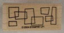 2004 Stampin Up Rectangle Border Display Wooden Rubber Stamp
