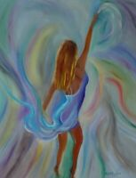 "'HAWAII ARTIST ""Exotic Dancer"" Expressionism 24""x30"" Original Oil"